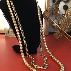 Jewelry - Double Strand Gold Necklace.